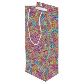 Techno Colors Vintage Kaleidoscope  Wine Bags