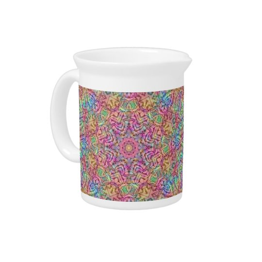 Techno Colours Kaleidoscope  Porcelain Pitchers