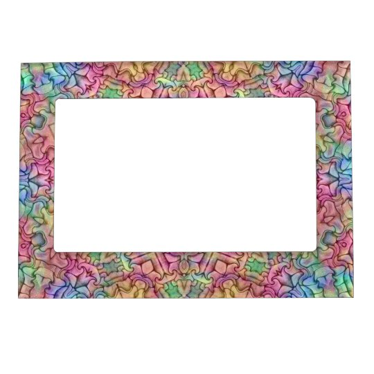Techno Colours Pattern  Magnetic Picture Frames