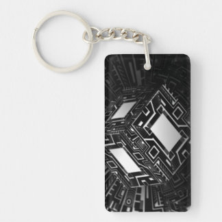 Techno Cube Keychain
