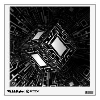 Techno Cube Wall Sticker