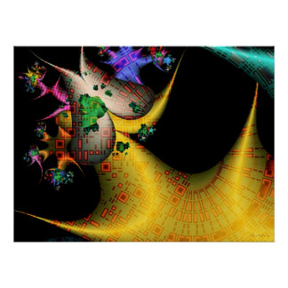 Techno Dream Fractal Poster