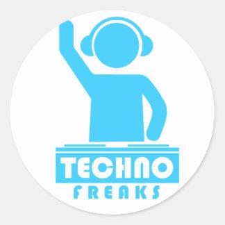 Techno Freaks Classic Round Sticker