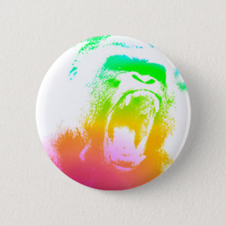 Techno Gorilla 2 Inch Round Button