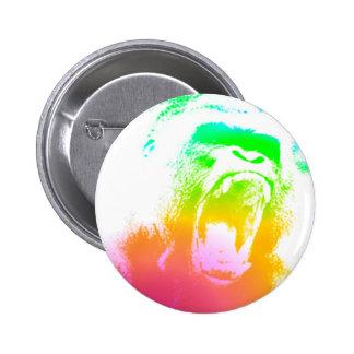 Techno Gorilla 2 Inch Round Button