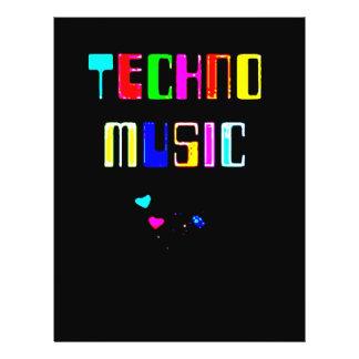 Techno Music heart Full Color Flyer
