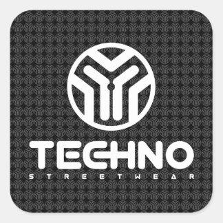 Techno Streetwear - Logo - Stickers