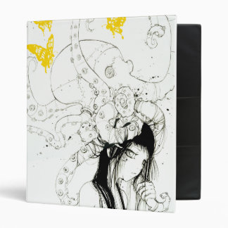 Techno Tako Girl 3-Ring School Binder