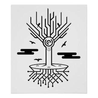 Techno Tree Poster