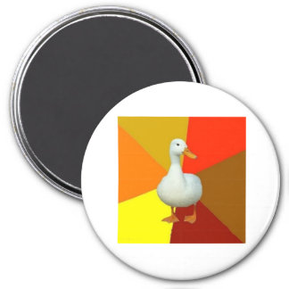 Technologically Impaired Duck Advice Animal Meme 3 Inch Round Magnet