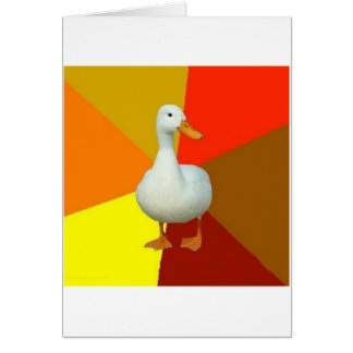 Technologically Impaired Duck Advice Animal Meme Greeting Card
