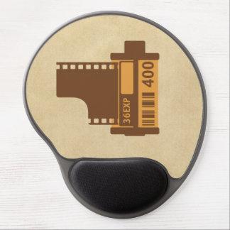 technologie de film de 35mm rétro tapis de souris en gel