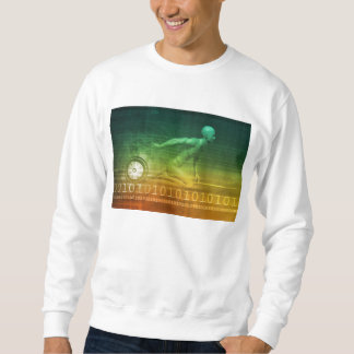 Technology Evolution with Man Evolving with System Sweatshirt