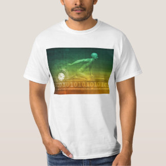 Technology Evolution with Man Evolving with System T-Shirt