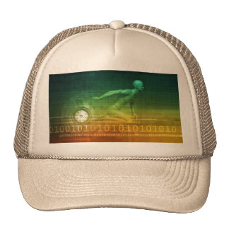Technology Evolution with Man Evolving with System Trucker Hat