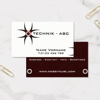 technology, handicraft business card