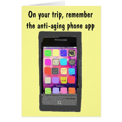 Technology Humor for Vacation Bon Voyage Card