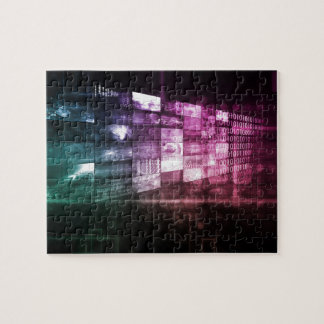 Technology Infrastructure as a IT Abstract Art Jigsaw Puzzle