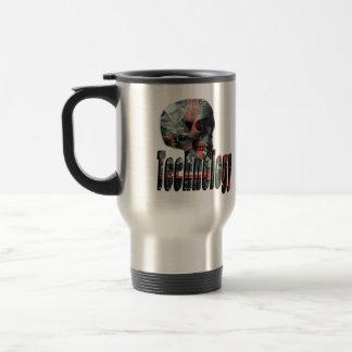 Technology Minded Skull Logo ,Travel  Mug. Travel Mug