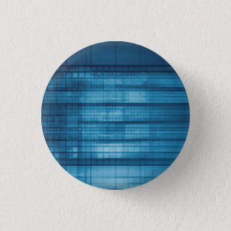 Technology Mosaic Background as a Tech Concept Art 1 Inch Round Button