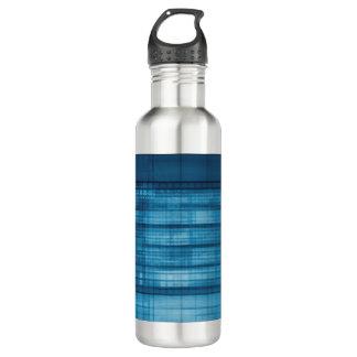Technology Mosaic Background as a Tech Concept Art 710 Ml Water Bottle