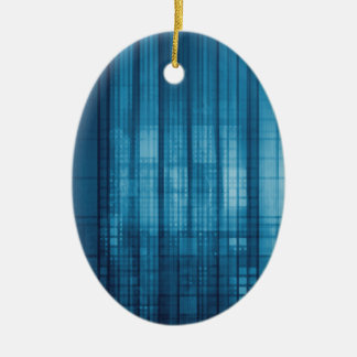 Technology Mosaic Background as a Tech Concept Art Ceramic Ornament