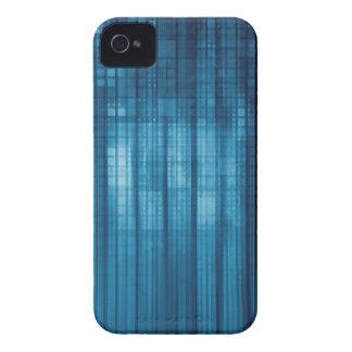 Technology Mosaic Background as a Tech Concept Art iPhone 4 Case-Mate Case