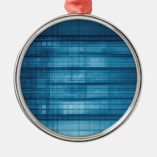 Technology Mosaic Background as a Tech Concept Art Metal Ornament