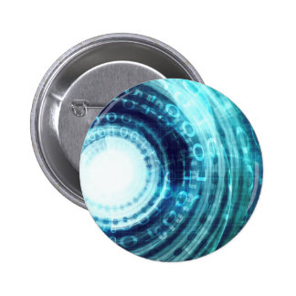 Technology Portal with Digital Circle Access 2 Inch Round Button