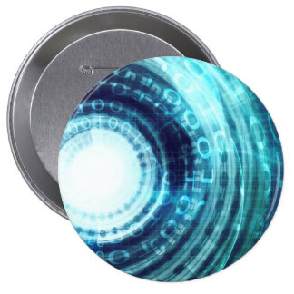 Technology Portal with Digital Circle Access 4 Inch Round Button