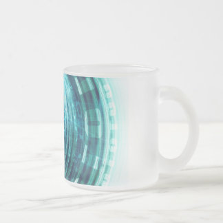 Technology Portal with Digital Circle Access Frosted Glass Coffee Mug