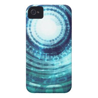 Technology Portal with Digital Circle Access iPhone 4 Covers
