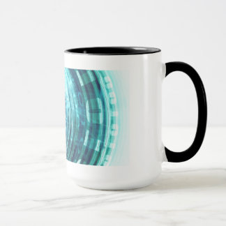 Technology Portal with Digital Circle Access Mug