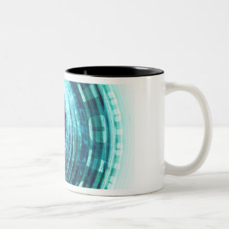 Technology Portal with Digital Circle Access Two-Tone Coffee Mug