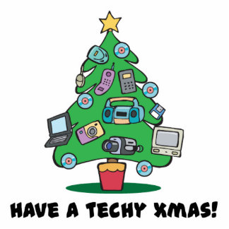 techy electronics chrismas tree acrylic cut outs