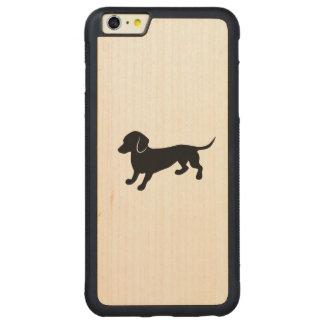 Teckel mignon coque carved® pare-chocs en érable pour iPhone 6 p
