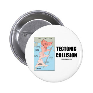 Tectonic Collision (Himalayas) 2 Inch Round Button