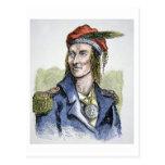 Tecumseh (1768-1813) (coloured engraving) postcard