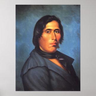 Tecumseh Native American Indian Poster