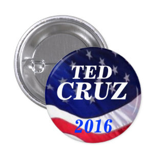 Ted Cruz 2016 1 Inch Round Button