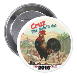 Ted Cruz 2016 3 Inch Round Button