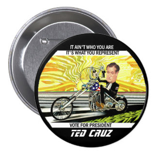 Ted Cruz 3 Inch Round Button