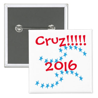Ted Cruz Button 2016 Stars Election Gear