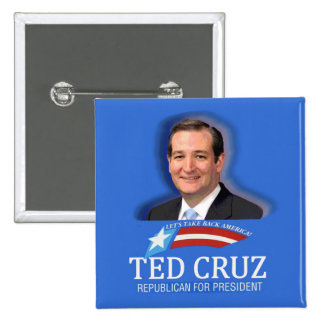 Ted Cruz for President in 2016 2 Inch Square Button