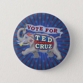 Ted Cruz President 2016 Republican Elephant 2 Inch Round Button