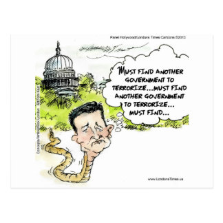 Ted Cruz Slithers From Congress Funny Postcard