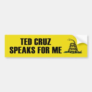 Ted Cruz Speaks For Me Bumper Sticker