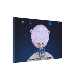 Ted in Black Canvas Print