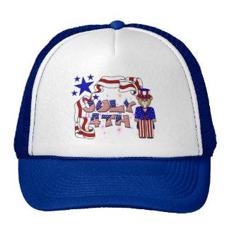 Teddies 4th of July Mesh Hats