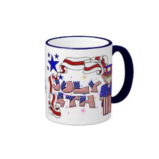 Teddies 4th of July Coffee Mug